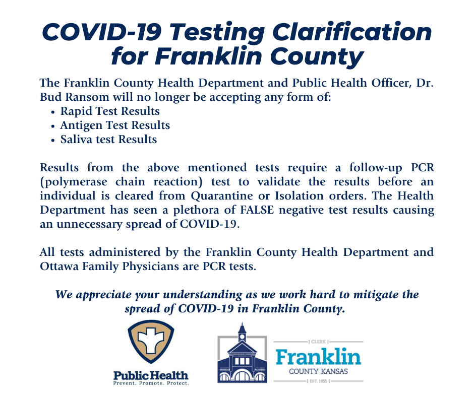 Covid 19 Franklin County Ks Official Website